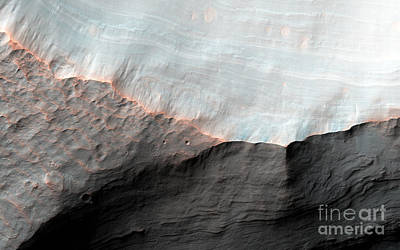 Photograph - Nasa Alluvial Fans by Rose Santuci-Sofranko