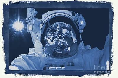Shuttle Digital Art - Nasa Astronaut by Raphael Terra