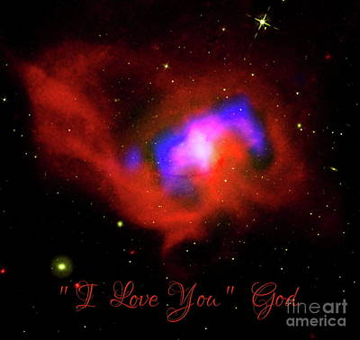 Photograph - Nasa Black Hole Heart I Love You From God by Rose Santuci-Sofranko