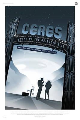 Digital Art - Nasa Ceres Poster Art Visions Of The Future by Erik Paul
