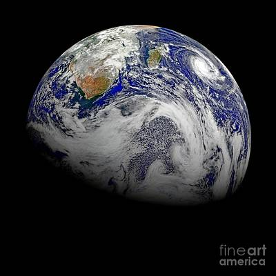 Photograph - Nasa Hd Sky View Of Earth From Suomi Npp by Rose Santuci-Sofranko