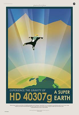 Digital Art - Nasa Hd40307g Poster Art Visions Of The Future by Erik Paul