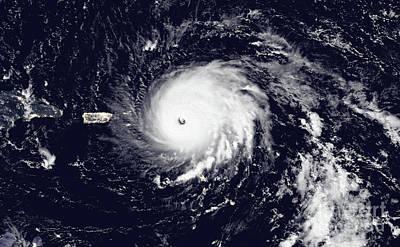 Photograph - Nasa Hurricane Irma Satellite Image Near Barbuda by Rose Santuci-Sofranko