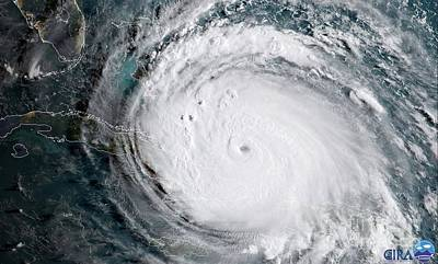 Photograph - Nasa Hurricane Irma Satellite Image by Rose Santuci-Sofranko
