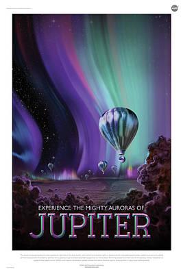 Digital Art - Nasa Jupiter Poster Art Visions Of The Future by Erik Paul