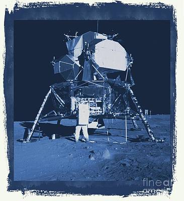 Science Fiction Royalty-Free and Rights-Managed Images - NASA Lunar Lander by Raphael Terra