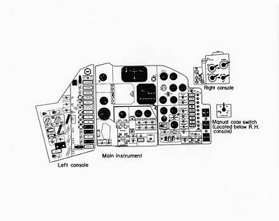 Drawing - Nasa Main Instrument Panel For The Mercury Spacecraft by R Muirhead Art