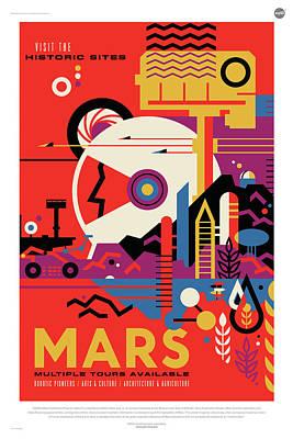 Digital Art - Nasa Mars Poster Art Visions Of The Future by Erik Paul