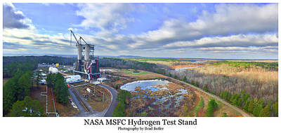 Nasa Msfc Hydrogen Test Stand - Original Art Print