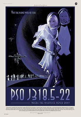 Digital Art - Nasa Pso J318.5-22 Art Poster Visions Of The Future by Erik Paul