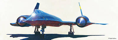 Sr-71 Painting - Nasa Sr-71 by Douglas Castleman