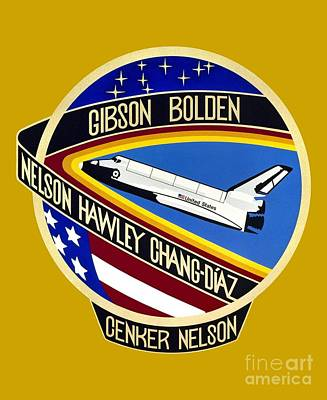 Art Gallery Mixed Media - Nasa Sts-61-c Mission Patch by Art Gallery