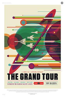Digital Art - Nasa The Grand Tour Poster Art Visions Of The Future by Erik Paul