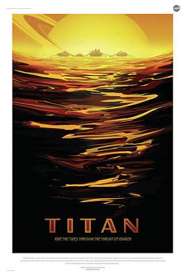 Digital Art - Nasa Titan Poster Art Visions Of The Future by Erik Paul