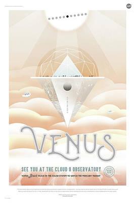 Digital Art - Nasa Venus Poster Art Visions Of The Future by Erik Paul