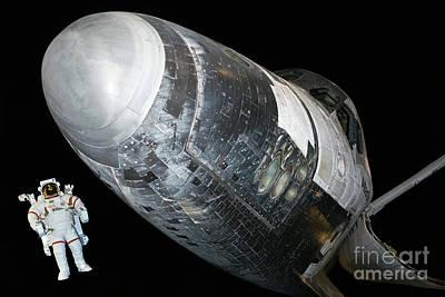 Photograph -  NASAs Orbiter vehicle Atlantis by John Gaffen