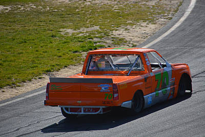 Photograph - Nascar 70 Chevy Truck by Mike Martin