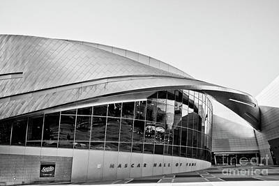 Photograph - Nascar Hall Of Fame Bw by Patrick M Lynch