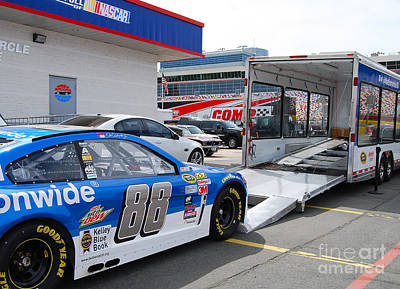 Photograph - Nascar Transport by Mark Spearman