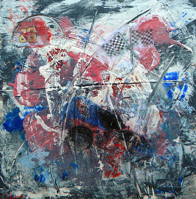 Nascar Painting - Nascar Wipeout by James Longwell
