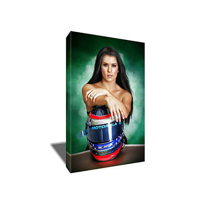Danica Patrick Painting - Nascar's Danica Patrick Canvas Art by Artwrench Dotcom