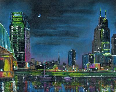 Cumberland River Painting - Nashvegas by Jason McKeel