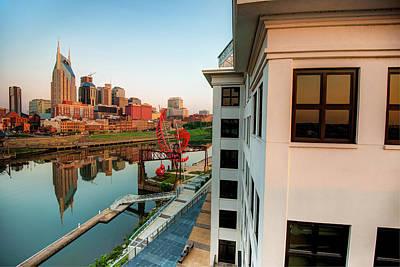 Photograph - Nashville Along The River by Gregory Ballos