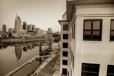 Photograph - Nashville Along The River - Sepia Edition by Gregory Ballos