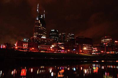 Photograph - Nashville At Night by Charles HALL
