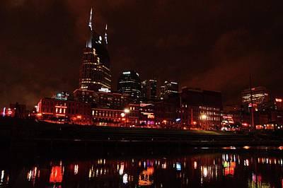 Photograph - Nashville At Night by Charles HALL