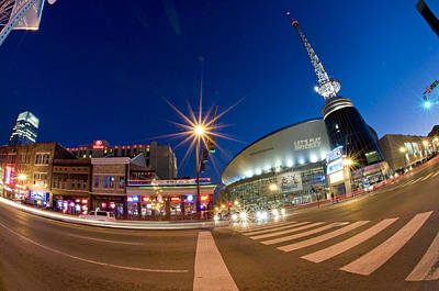 Street Hockey Photograph - Nashville At Night by Giffin Photography