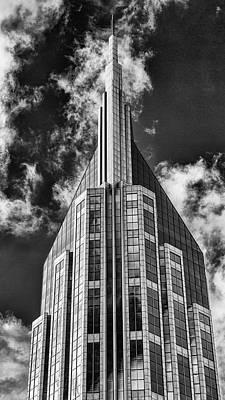 Nashville Att Building Art Print by Stephen Stookey