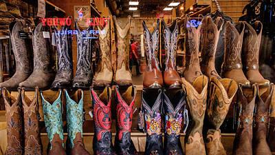 Photograph - Nashville Boots by Glenn DiPaola