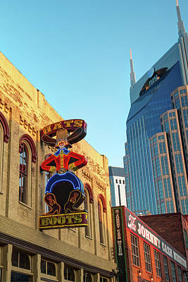 Photograph - Nashville Boots Neon Sign by Gregory Ballos