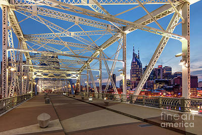 Photograph - Nashville Bridge by Brian Jannsen