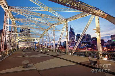 Photograph - Nashville Bridge II by Brian Jannsen