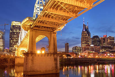 Photograph - Nashville Bridge IIi by Brian Jannsen