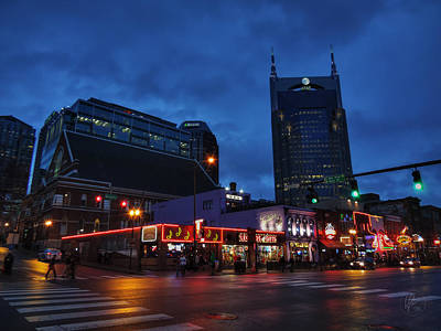 Photograph - Nashville - Broadway 001 by Lance Vaughn