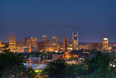 Nashville By Night 2 Art Print by Douglas Barnett