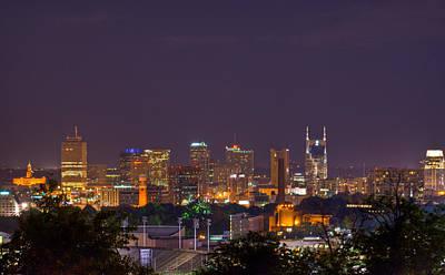Nashville By Night 3 Art Print