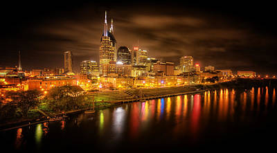 Nashville City Lights Art Print