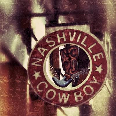 Photograph - Nashville Cowboy Boots by Debra Martz