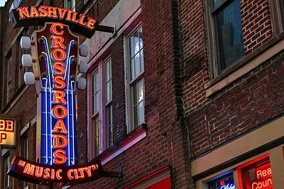 Photograph - Nashville Crossroads Music City  by Carol Montoya