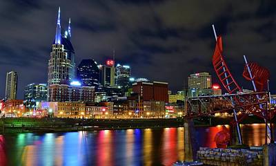 Photograph - Nashville Cumberland Riverfront by Frozen in Time Fine Art Photography