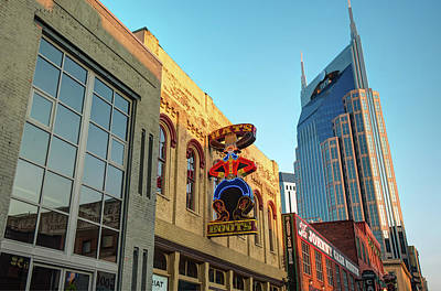 Photograph - Nashville Hats And Boots Cowboy Skyline by Gregory Ballos