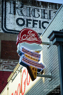 Photograph - Nashville Ice Cream Sign Signage Art by Reid Callaway