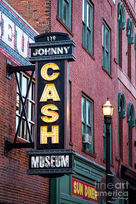 Photograph - Nashville Johnny Case Museum Signage Art by Reid Callaway
