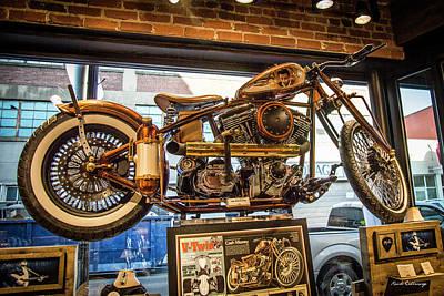 Photograph - Nashville Johnny Cash Motorcycle Signage Art by Reid Callaway