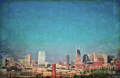Nashville Skyline Painting - Nashville Skyline by Linda M Gardner