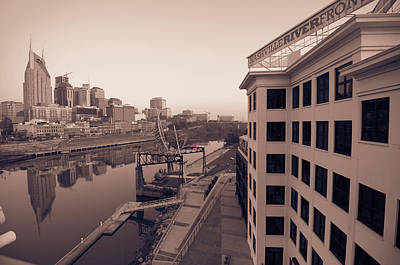Photograph - Nashville Monochrome Skyline by Gregory Ballos